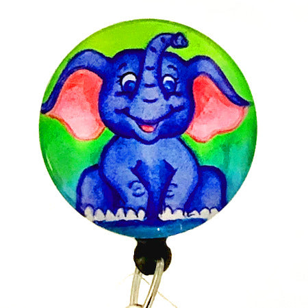 Whimsicals Elephant ID Badge Reel