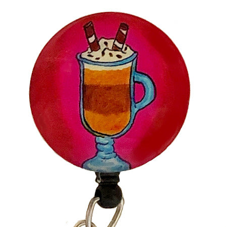 Whimsicals Latte ID Badge Reel