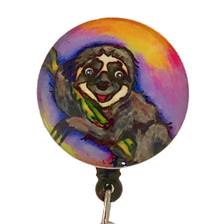 Whimsicals Sloth ID Badge Reel