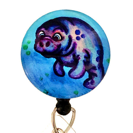 Whimsicals Manatee ID Badge Reel