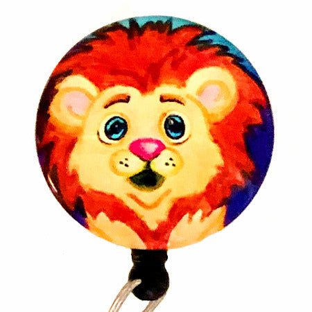 Whimsicals Lion ID Badge Reel