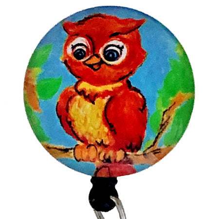 Whimsicals Owl ID Badge Reel