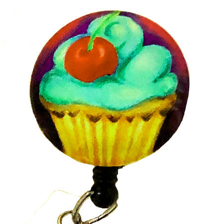 Whimsicals Cupcake ID Badge Reel