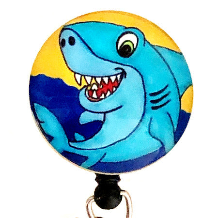 Whimsicals Shark ID Badge Reel