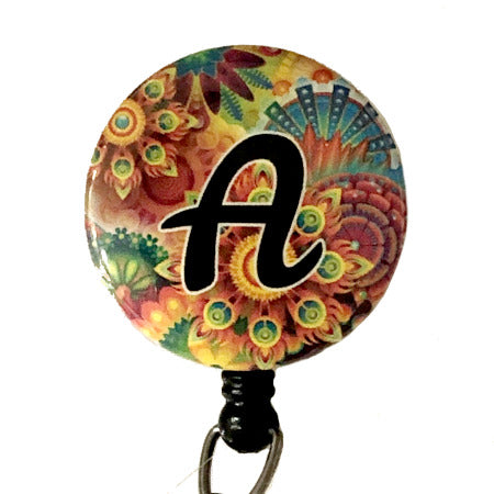 Initial A ID Badge Reel