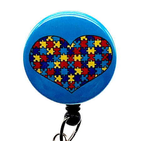 Autism 1 ID Badge Reel
