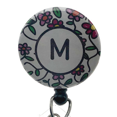 Initial M ID Badge Reel