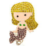 Blonde Mermaid ID Badge Reel - SassyBadge