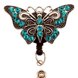 Blue Butterfly ID Badge Reel - SassyBadge