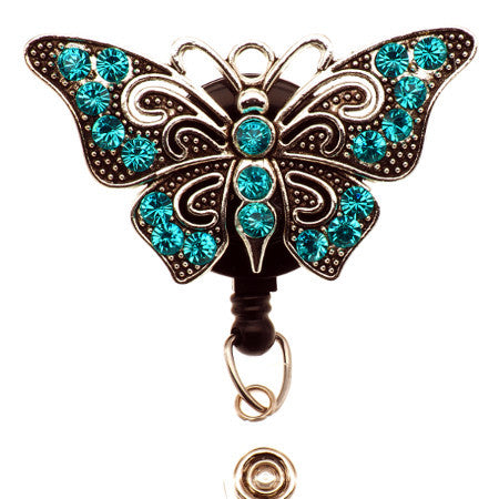 Blue Butterfly ID Badge Reel