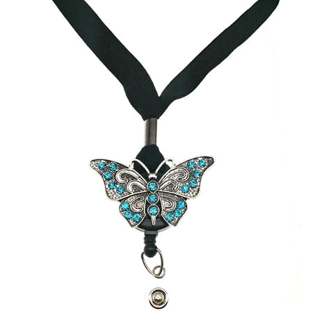 Blue Butterfly Lanyard -SassyBadge