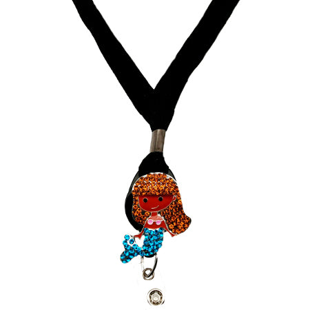 Brunette Mermaid II Lanyard