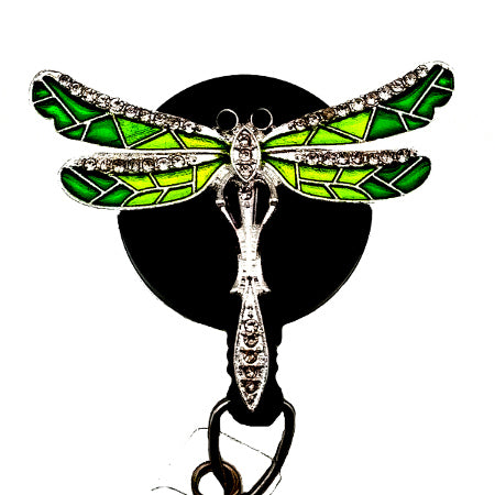 Green Dragonfly ID Badge Reel -SassyBadge