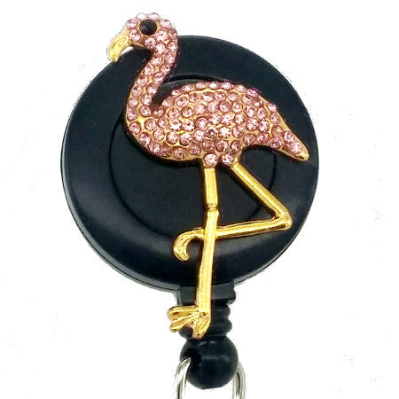 Pink Flamingo ID Badge Reel - SassyBadge