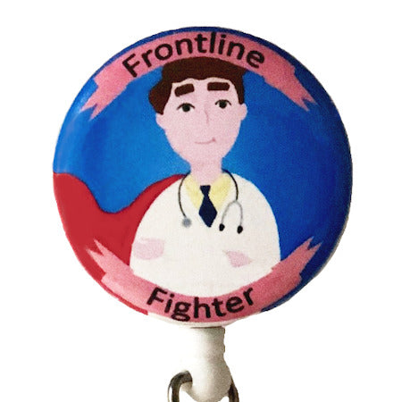 Frontline Fighter Man ID Badge Reel
