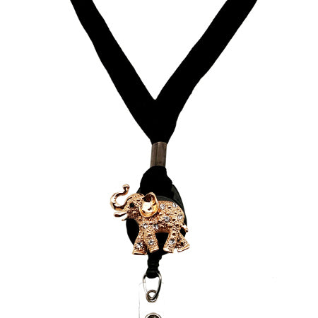 Gold Elephant Lanyard - SassyBadge