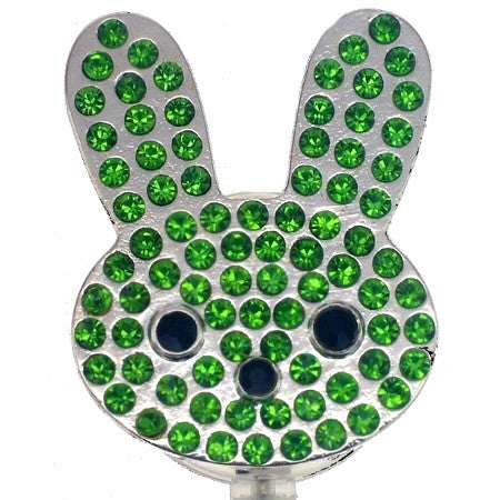 Green Easter Bunny ID Badge Reel