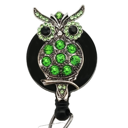 Green Owl ID Badge Reel - SassyBadge