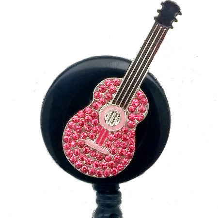 Girl Band Guitar ID Badge Reel