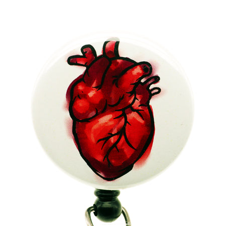 Anatomical Heart ID Badge Reel - SassyBadge
