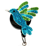 Hummingbird on Black ID Badge Reel - SassyBadge