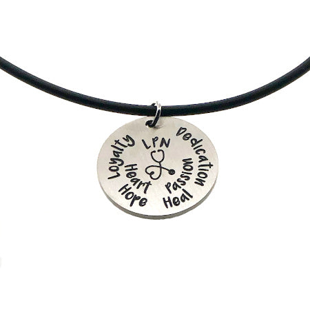 SassyTags LPN Necklace