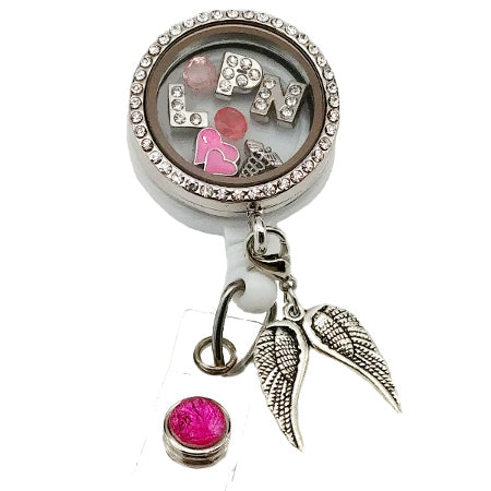 LPN Floating Charm ID Badge Reel - SassyBadge