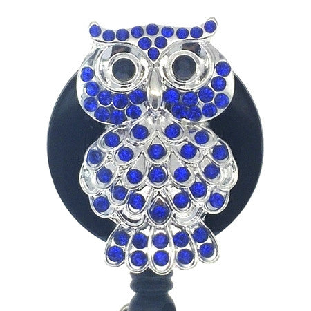 Little Blue Owl ID Badge Reel