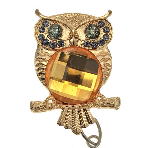 Golden Gem Owl ID Badge Reel