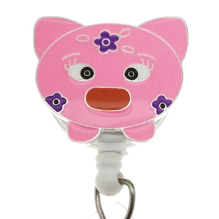 Miss Piggie ID Badge Reel - SassyBadge
