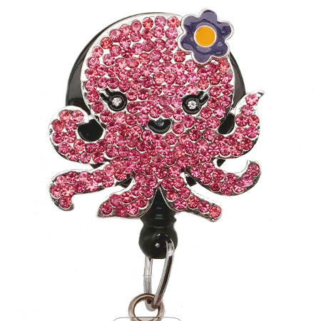 Pink Lady Octopus ID Badge Reel - SassyBadge
