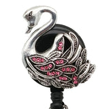 Pink Swan ID Badge Reel - SassyBadge
