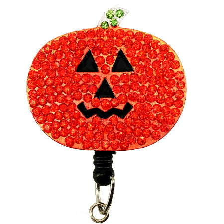 Pumpkin ID Badge Reel