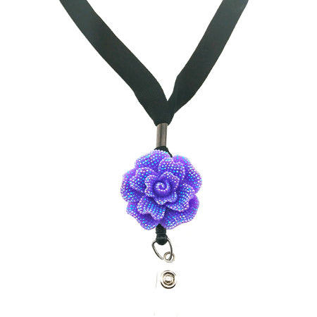 Purple Rose Lanyard - SassyBadge