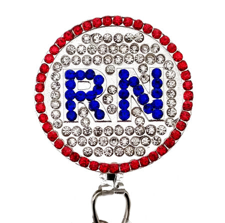 RN Rhinestones ID Badge Reel - SassyBadge