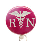Medical Symbol Pink RN ID Badge Reel - SassyBadge