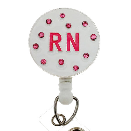 RN Pink Sprinkles ID Badge Reel - SassyBadge