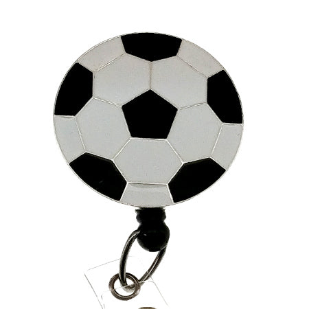 Soccerball ID Badge Reel