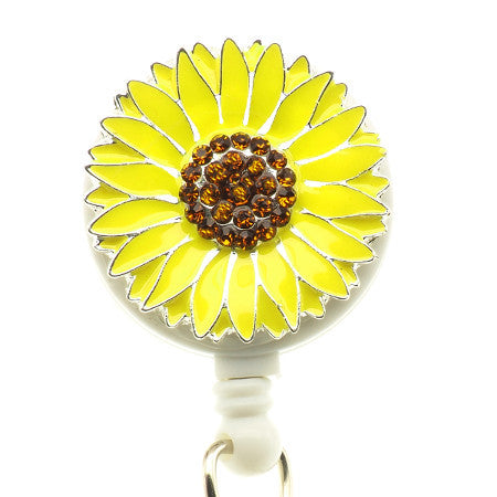 Sunflower ID Badge Reel - SassyBadge