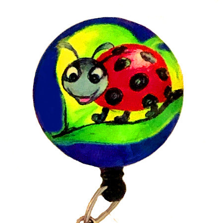 Whimsicals Ladybug ID Badge Reel