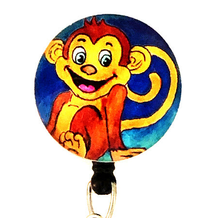 Whimsicals Monkey ID Badge Reel