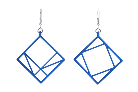 Pythagorean Earring, Blue