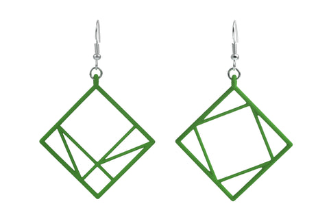 Pythagorean Earring, Green