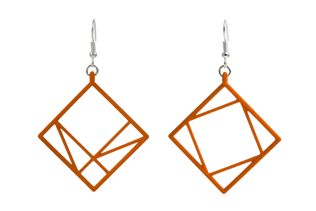 Pythagorean Earring, Orange