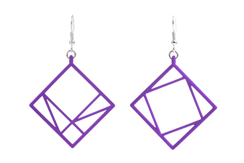 Pythagorean Earring, Purple