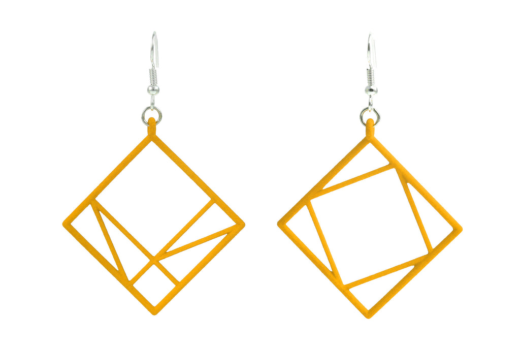 Pythagorean Earring, Yellow