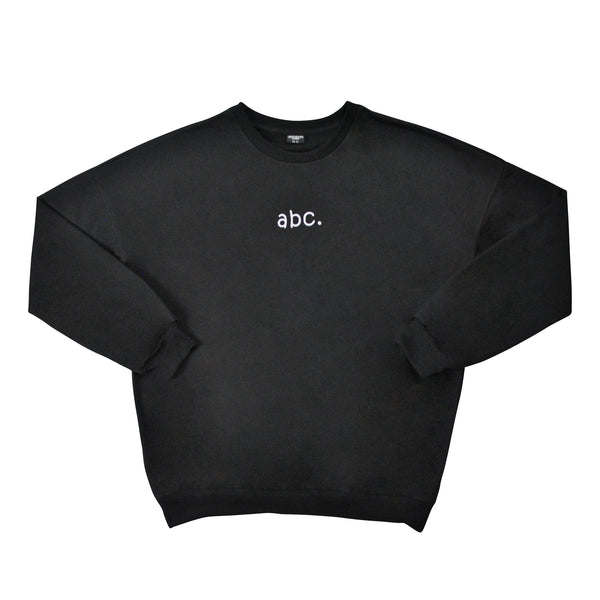 abc. oversized crewneck - black