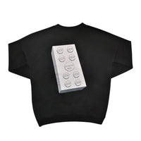the bloc. oversized crewneck - black