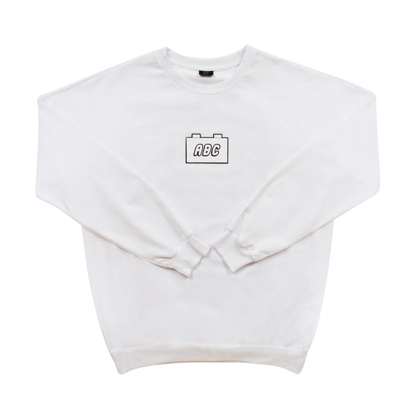 the bloc. oversized crewneck - white