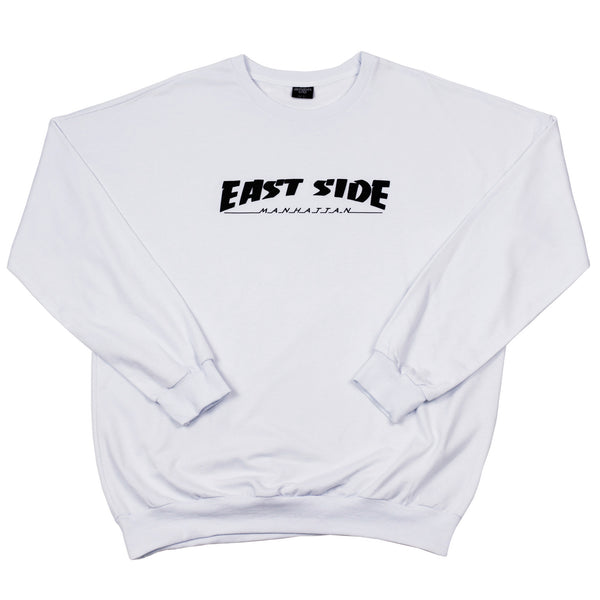 east side crewneck (white)